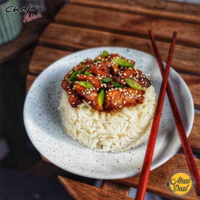 Рецепт - Курица терияки с рисом