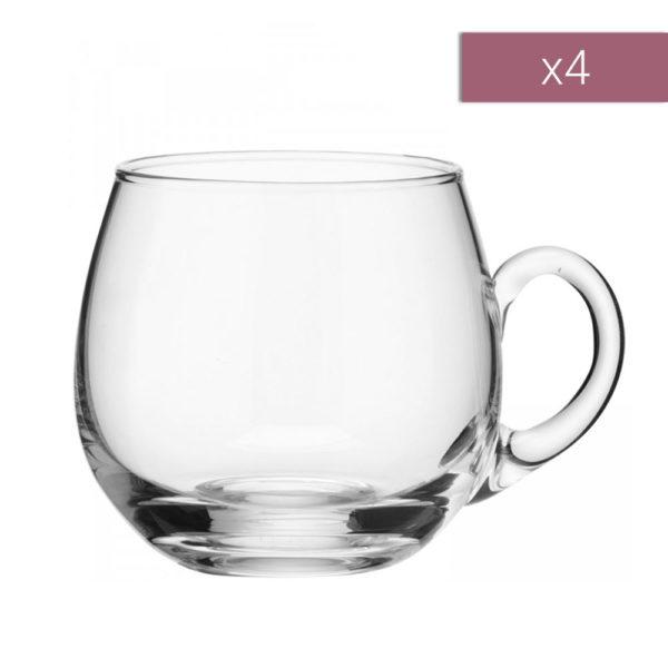 Набор из 4-х стеклянных чашек для пунша Serve 300 мл, G101-12-301, LSA International