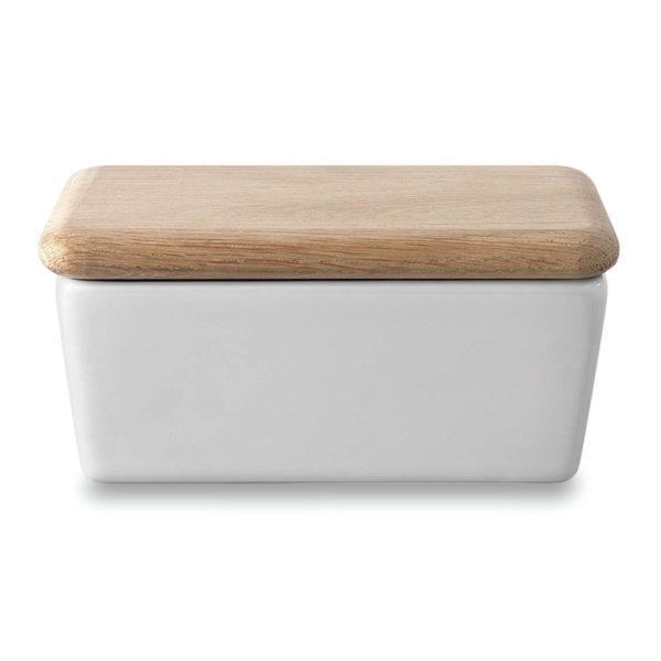 Фарфоровая масленка с деревянной крышкой 10 см, P030-00-997, LSA International