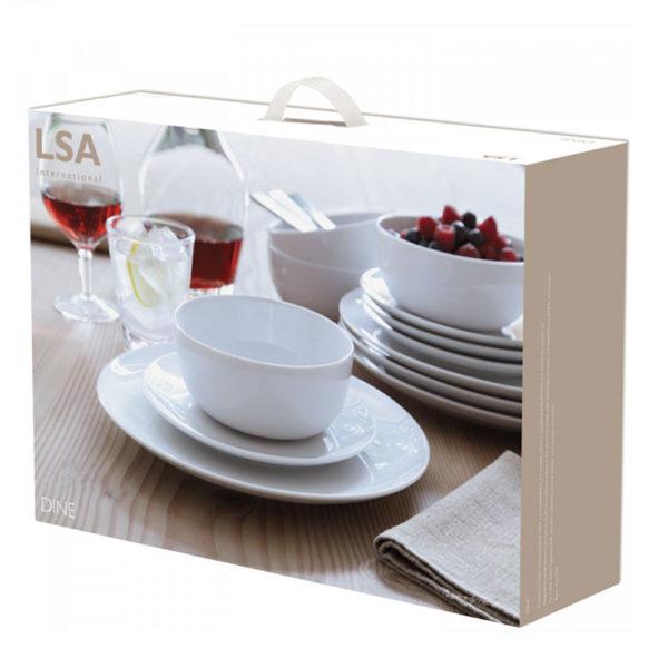 Фарфоровый столовый сервиз Dine 12 предметов, P215-00-997, LSA International