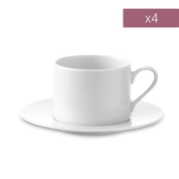 Набор из 4-х фарфоровых чайных пар Dine 250 мл, P034-11-997, LSA International