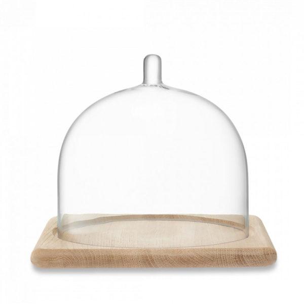 Блюдо со стеклянной крышкой Serve 25x25 см, дуб, G1590-01-991, LSA International