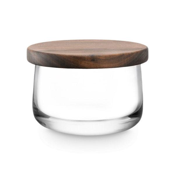 Стеклянная чаша с крышкой из грецкого ореха City 13 см, G1239-13-301, LSA International