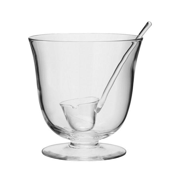Стеклянная чаша для пунша с половником Serve 25 см, G399-25-301, LSA International