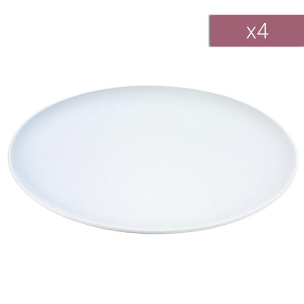 Набор из 4-х фарфоровых обеденных тарелок тарелок Dine 28 см, P079-27-997, LSA International