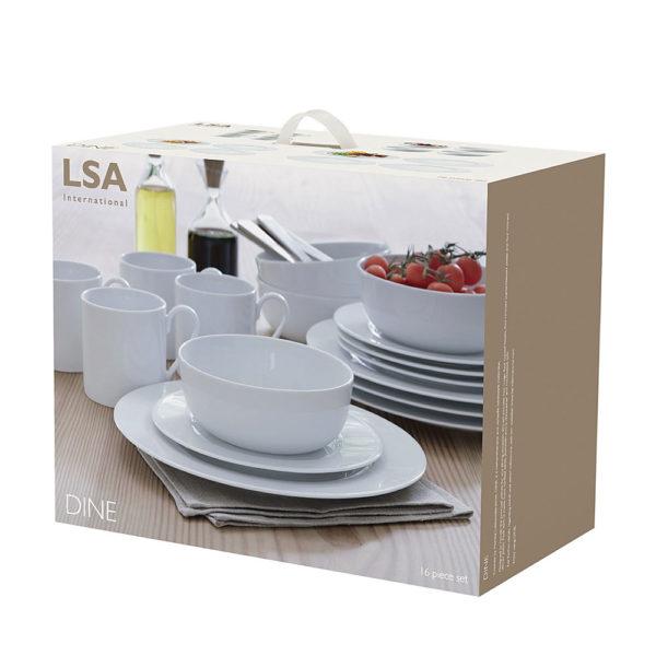 Фарфоровый столовый сервиз Dine 16 предметов, P215-02-997, LSA International