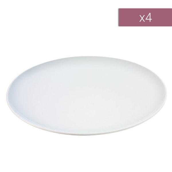 Набор из 4-х фарфоровых десертных тарелок Dine 20 см, P079-20-997, LSA International