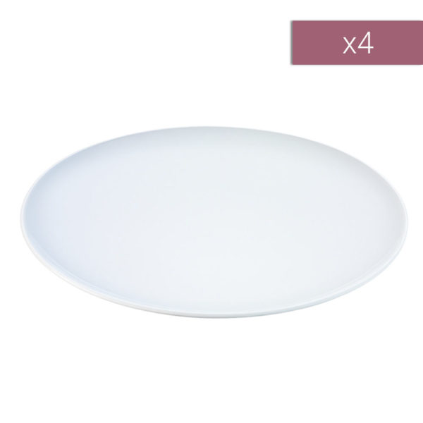 Набор из 4-х фарфоровых обеденных тарелок тарелок Dine 24 см, P079-24-997, LSA International