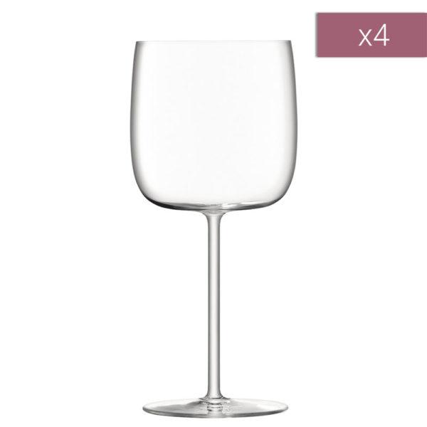 Набор из 4-х бокалов для красного вина Borough 450 мл, G1620-16-301, LSA International