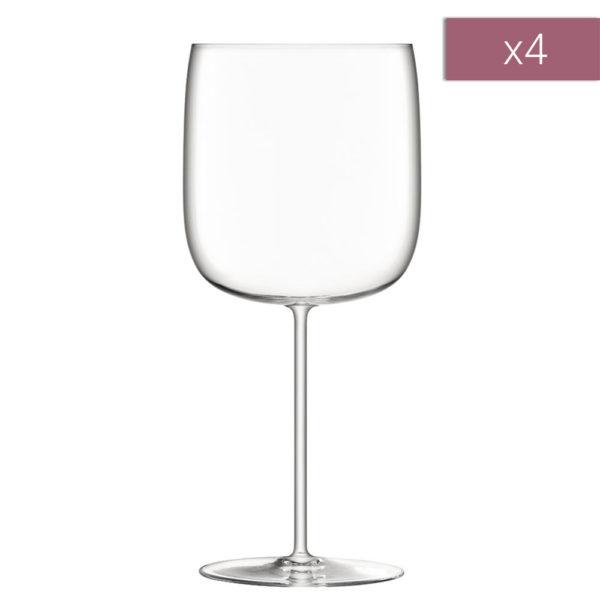 Набор из 4-х бокалов для красного вина Borough 660 мл, G1620-23-301, LSA International