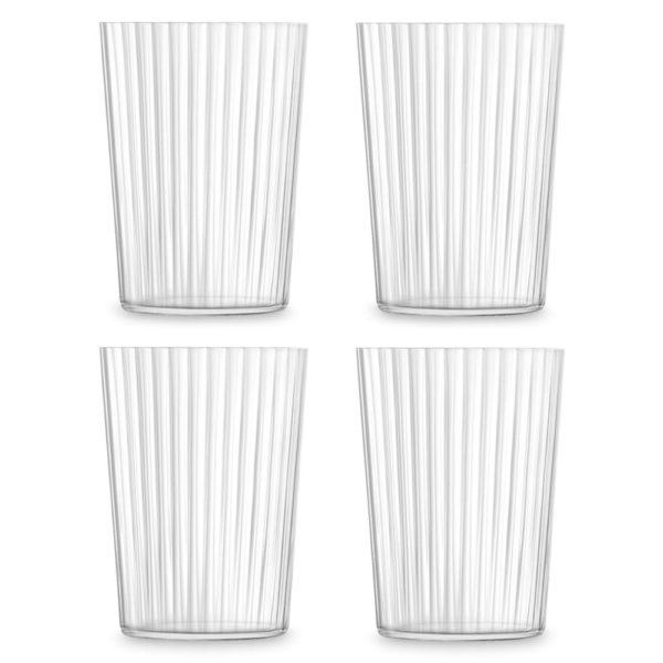Набор из 4-х стеклянных стаканов Gio Line 560 мл, G060-18-304, LSA International