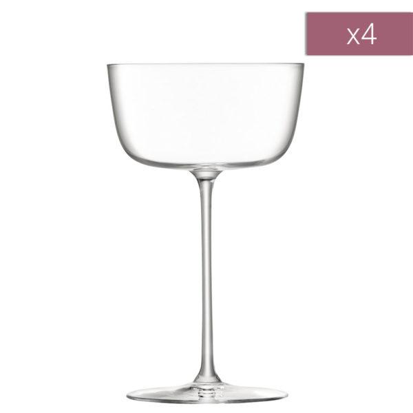 Набор из 4-х бокалов для коктейлей Borough 240 мл, G1619-09-301, LSA International