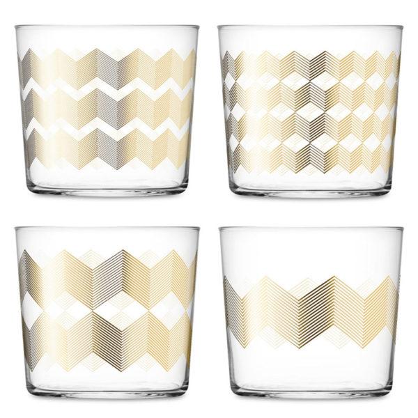 Набор из 4-х стеклянных стаканов Chevron 310 мл, G060-09-146, LSA International