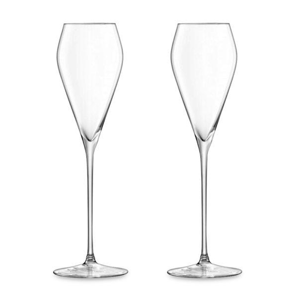 Набор из 2-х стеклянных бокалов для просекко Wine 250 мл, G874-05-991, LSA International