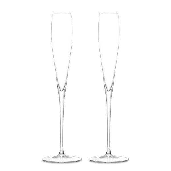 Набор из 2-х стеклянных бокалов для шампанского Wine 100 мл, G874-05-991, LSA International