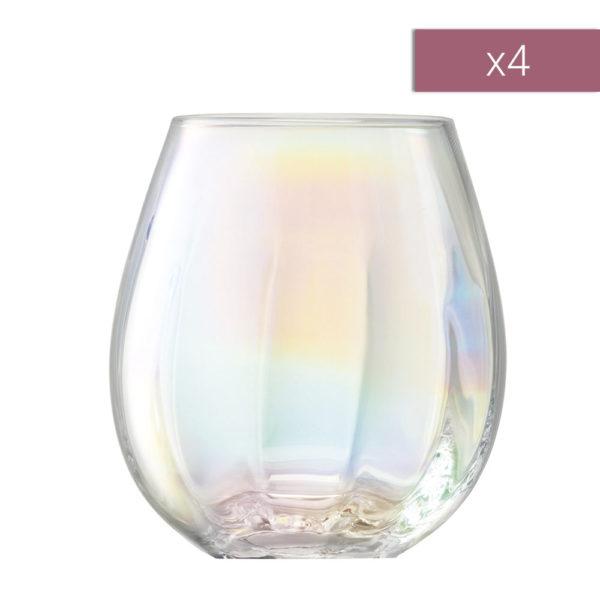 Набор из 4-х стеклянных стаканов Pearl 425 мл, G1331-15-401, LSA International
