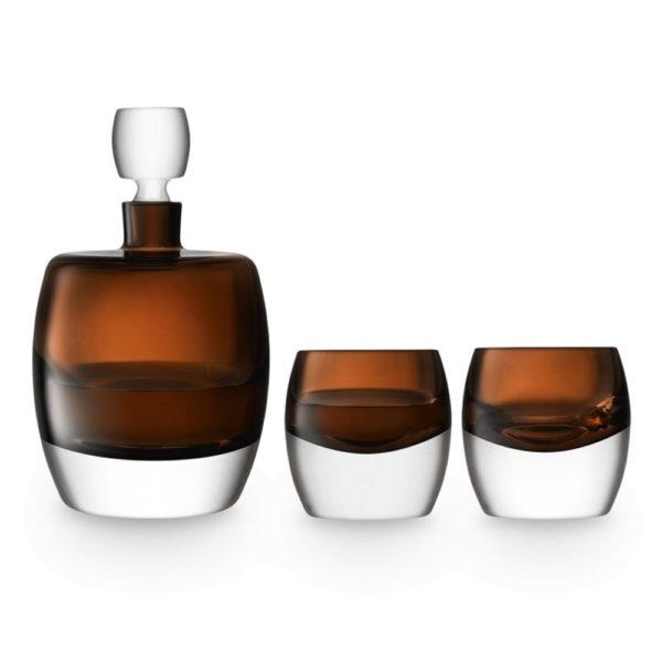 Набор для виски из 2-х стеклянных стаканов и штофа Whisky Club, G1536-00-866, LSA International