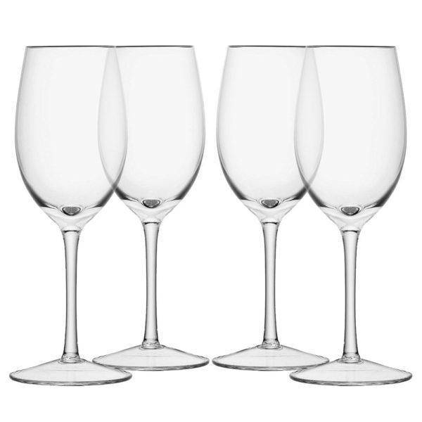 Набор из 4-х стеклянных бокалов для белого вина Wine 260 мл, G1152-09-301, LSA International