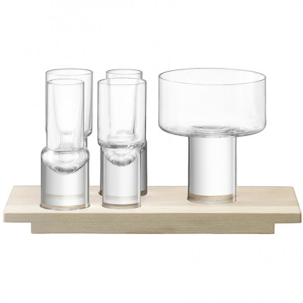 Набор сервировочный из 4-x стопок и менажницы Vodka 27 см, G1639-00-301, LSA International