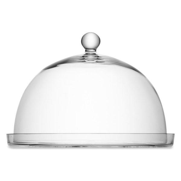 Стеклянное блюдо с крышкой-куполом Vienna 33 см, G385-33-301, LSA International