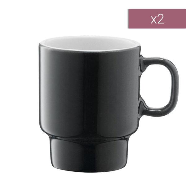 Набор из 2-х фарфоровых чашек для эспрессо 70 мл, P276-03-523, LSA International