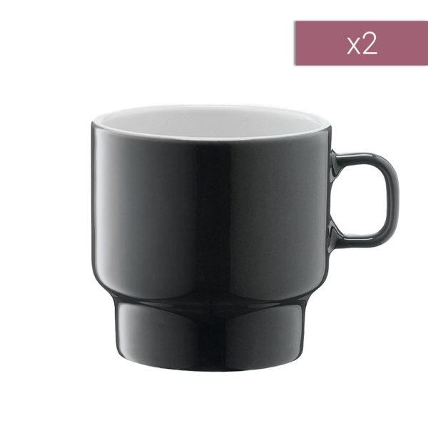 Набор из 2-х фарфоровых чашек для флэт-уайт кофе Utility 280 мл, P276-10-523, LSA International