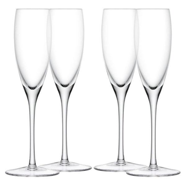 Набор из 4-х стеклянных бокалов для шампанского Wine 150 мл, G1153-05-301, LSA International
