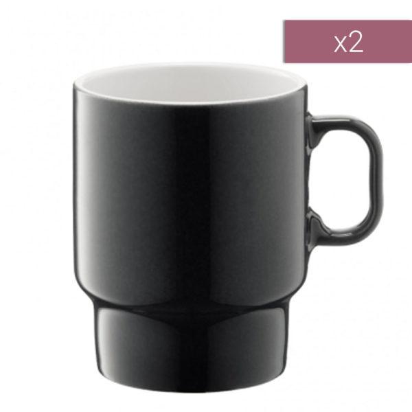 Набор из 2-х фарфоровых чашек для капучино Utility 380 мл, P276-14-523, LSA International