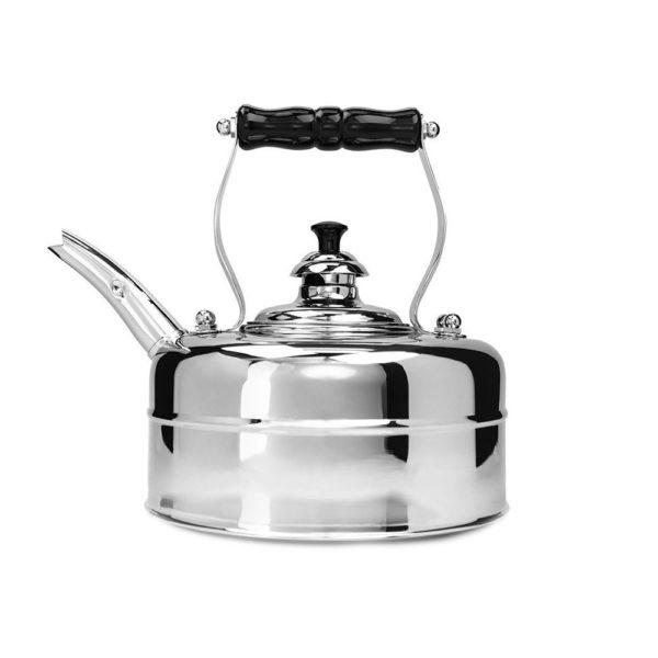 Хромированный медный чайник ручной работы для газовой и электро плиты Richmond Heritage NO.2, 1.7 л, RICHMOND