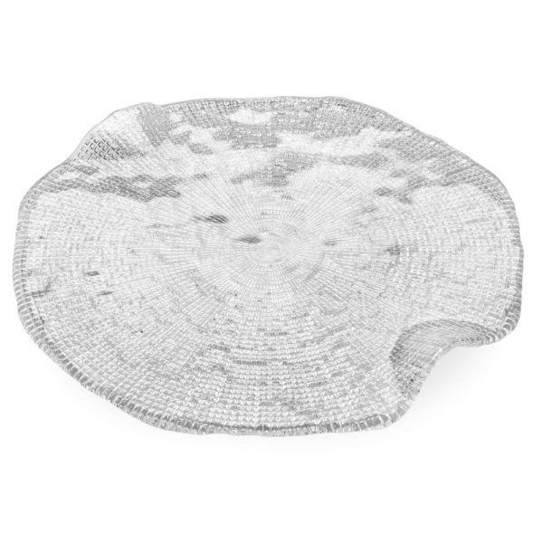 Стеклянное блюдо для сыра ручной работы Diamante 32 см, 6247.1, IVV