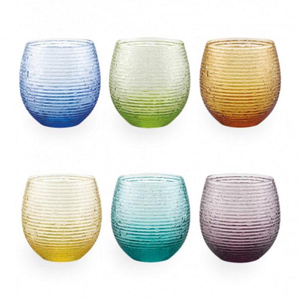 Набор из 6-ти стеклянных стаканов 250 мл Multicolor, 5652.1, IVV