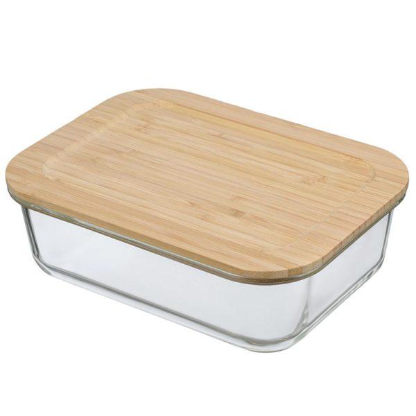 Стеклянный контейнер для продуктов с крышкой из бамбука 1520 мл, LB1520RC, Smart Solutions