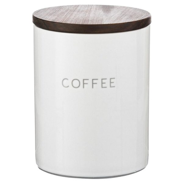Керамический контейнер для хранения кофе с деревянной крышкой, CR1012C, Smart Solutions