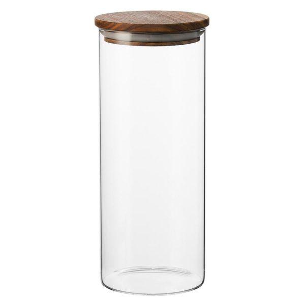 Стеклянный контейнер для хранения с деревянной крышкой 1.45 л, XS9523, Smart Solutions